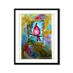Cardinal, Cheerful, Bird lover, Framed Panel Print