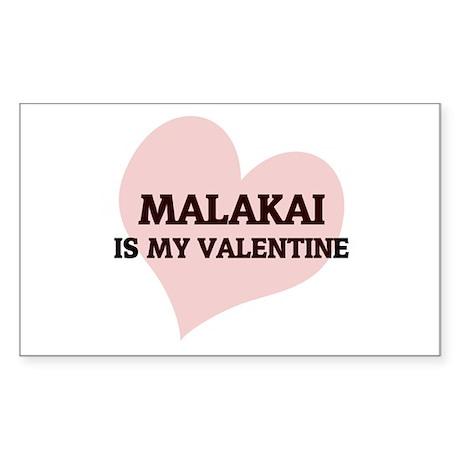 Malakai is my valentine Rectangle Sticker