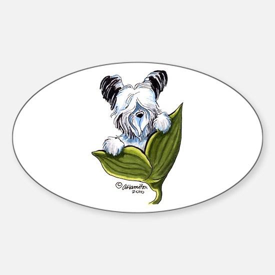 Platinum Skye Terrier Sticker (Oval)