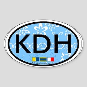 Kill Devil Hills NC - Oval Design Sticker (Oval)
