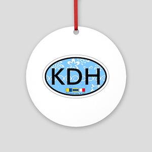 Kill Devil Hills NC - Oval Design Ornament (Round)