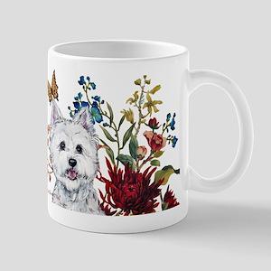 Westie Terrier in the Garden Mug