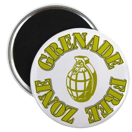 Grenade Free Zone Magnet