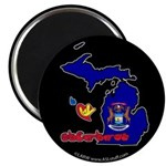 ILY Michigan Magnet