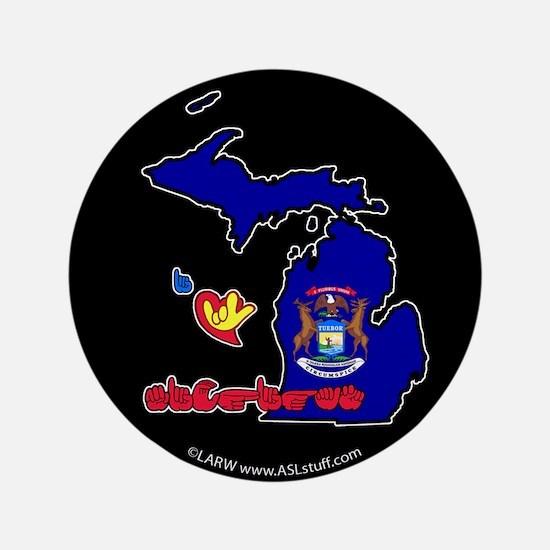 """ILY Michigan 3.5"""" Button"""