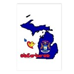 ILY Michigan Postcards (Package of 8)