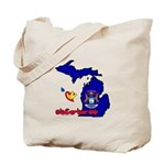ILY Michigan Tote Bag