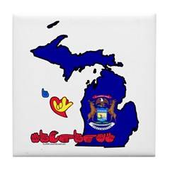 ILY Michigan Tile Coaster