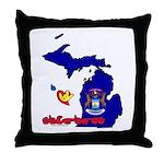 ILY Michigan Throw Pillow