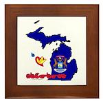 ILY Michigan Framed Tile