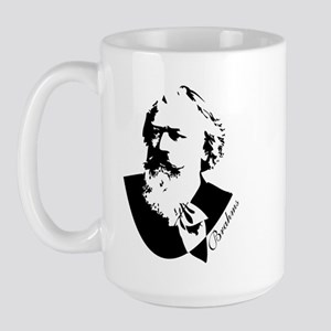 Silhouette Johannes Brahms Large Mug