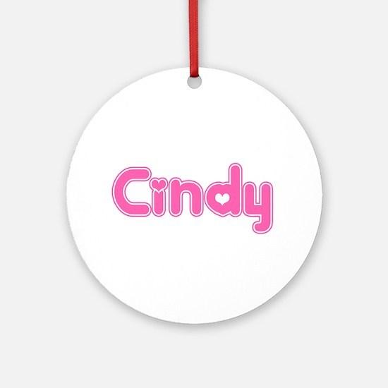 """Cindy"" Ornament (Round)"