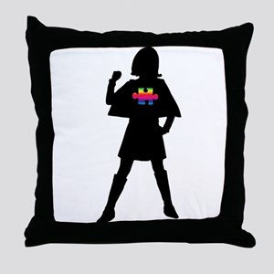 Spectrum Superheroes V2b Throw Pillow