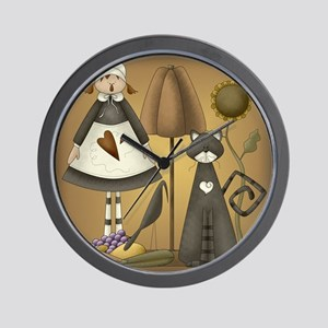 Pilgrim Girl Wall Clock