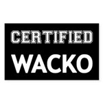 Certified Wacko Sticker (Rectangle 10 pk)