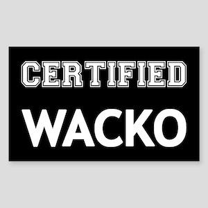 Certified Wacko Sticker (Rectangle)