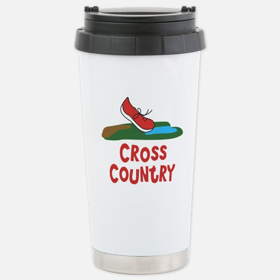 Cross Country Run Stainless Steel Travel Mug