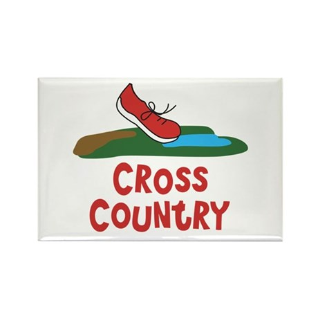Cross Country Run Rectangle Magnet