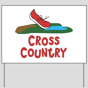 Cross Country Run Yard Sign