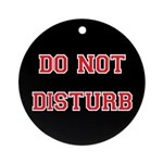 Do Not Disturb Ornament (Round)