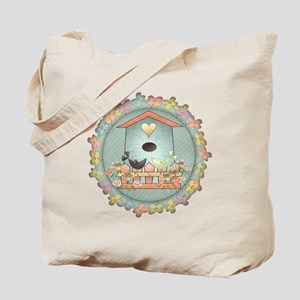 Country Blue Birdhouse Tote Bag