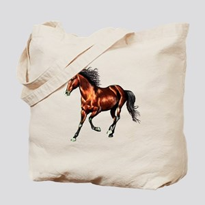 Cantering Bay Horse Tote Bag
