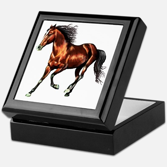 Cantering Bay Horse Keepsake Box