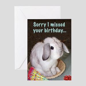 Bunny Belated Birthday Greeting Card
