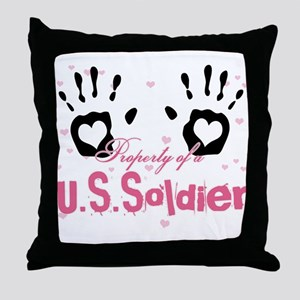 Property of a U.S. Soldier Throw Pillow