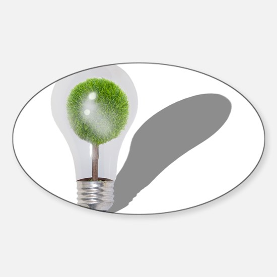 Tree Light Bulb Sticker (Oval)