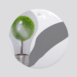Tree Light Bulb Ornament (Round)