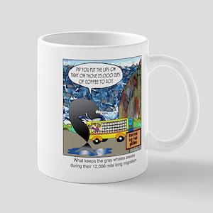 What keeps gray whales awake. Mug