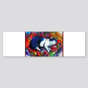 Cat, Bright, Colorful, Sticker (Bumper)