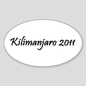 Kilimanjaro 2011 Sticker (Oval)