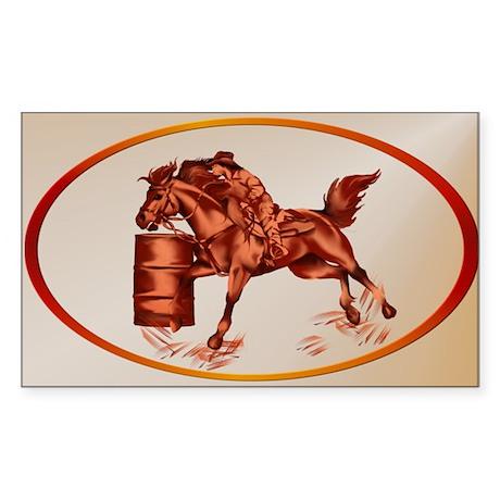 Barrel Racing Sticker (Rectangle)