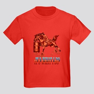 Barrel Racing_It's what I do Kids Dark T-Shirt
