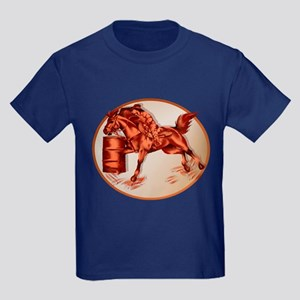 Barrel Horse Framed Kids Dark T-Shirt