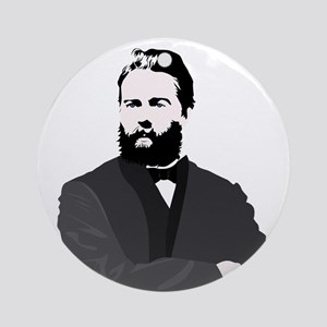 Herman Melville Ornament (Round)