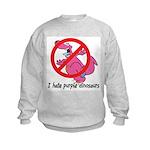 Purple Dinosaur Kids Sweatshirt