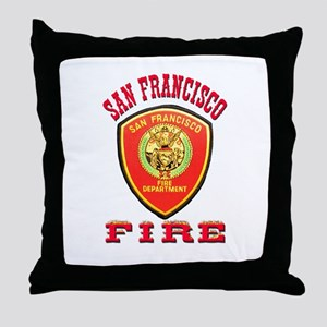 San Francisco Fire Department Throw Pillow