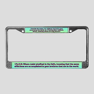 1Pe 5-8,9 License Plate Frame