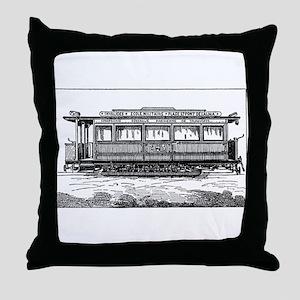 Vintage Illustration Throw Pillow