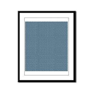 African Framed Panel Print