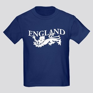 ENGLAND Lion white Kids Dark T-Shirt