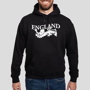 ENGLAND Lion white Hoodie (dark)
