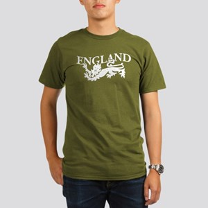 ENGLAND Lion white Organic Men's T-Shirt (dark)