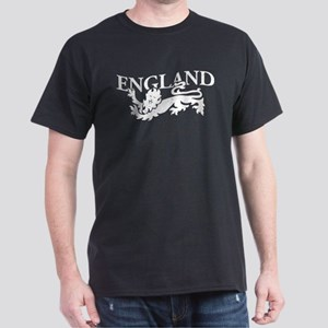 ENGLAND Lion white Dark T-Shirt