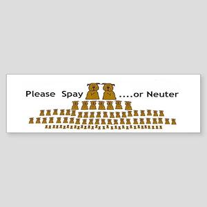 5-pup-ladder Bumper Sticker