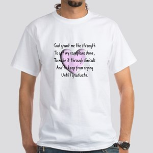 Nursing Student White T-Shirt