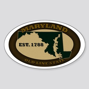 Maryland Est. 1788 Sticker (Oval)